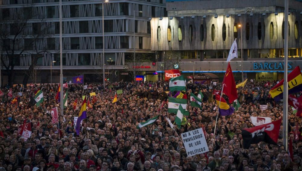 La Marcha por la Dignidad recorre Madrid
