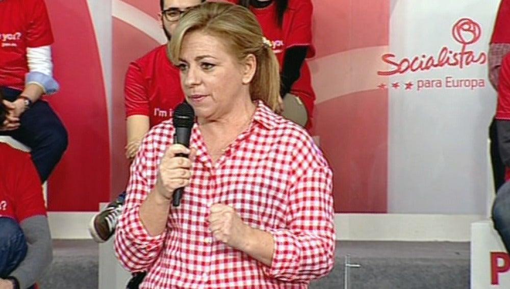 Valenciano, en un acto del PSOE