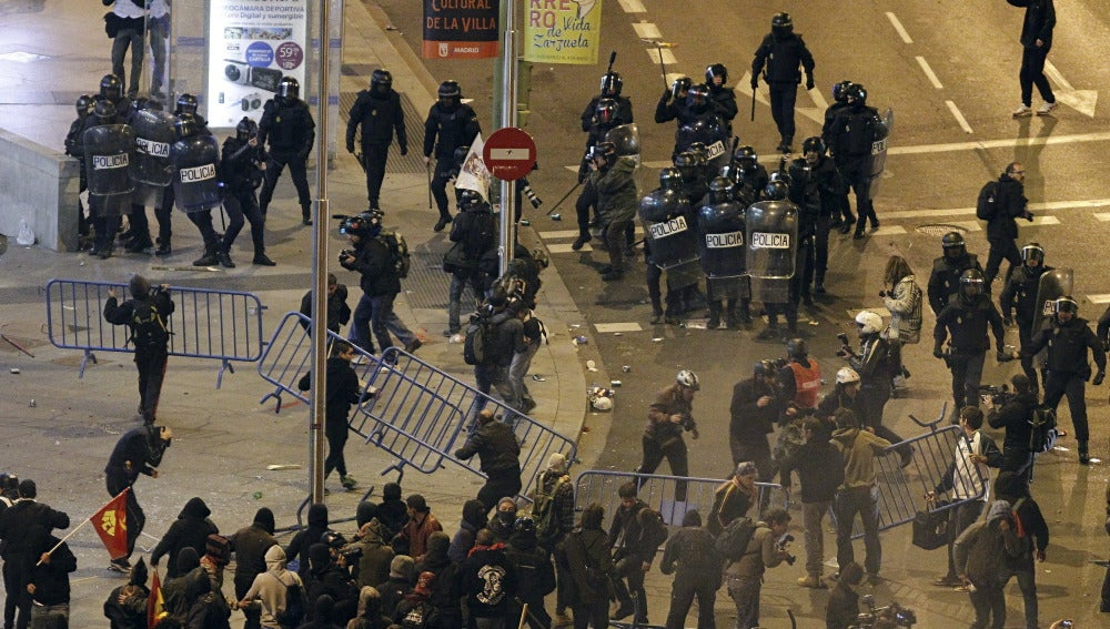 """Disturbios en Madrid por la """"Marcha por la Dignidad"""""""
