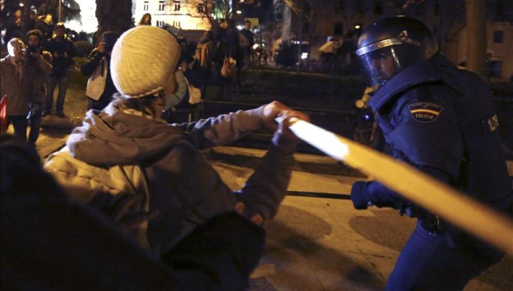 Agresiones en la manifestación