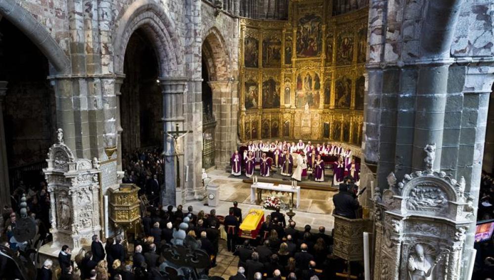 Funeral de Adolfo Suárez en la catedral de Ávila
