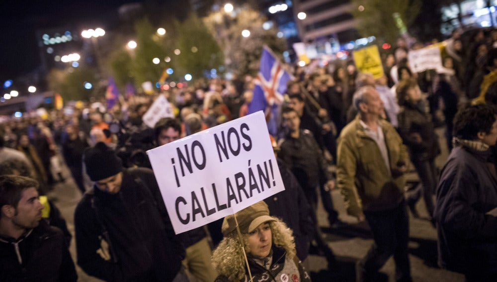 Cientos de personas protestan en Madrid