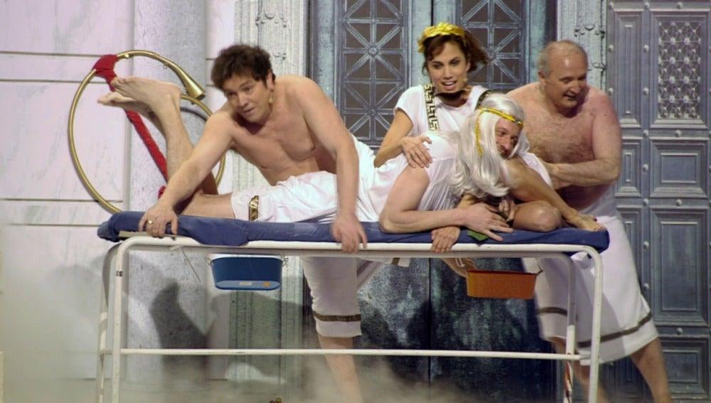 Un masaje especial para el senador Augusto