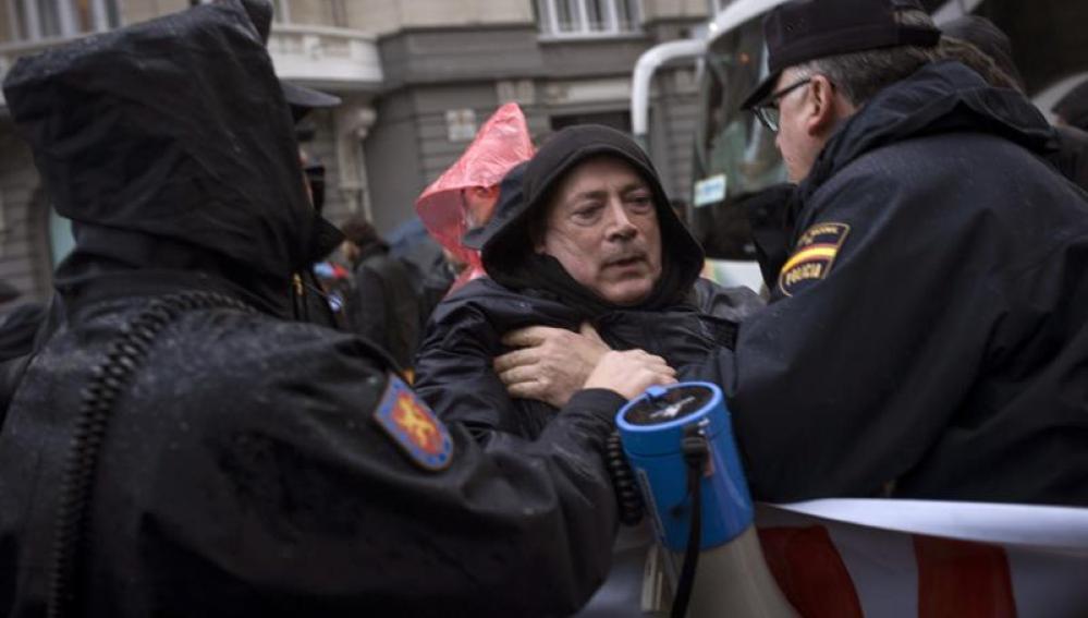 Protestas en Madrid a favor de la República