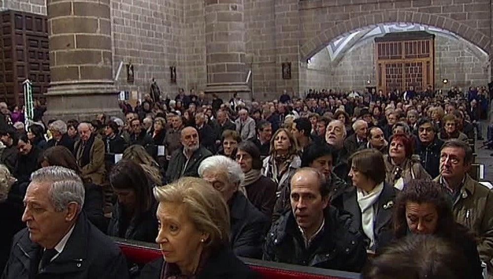 Misa en Cebreros por el fallecimiento de Adolfo Suárez