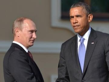 Vladimir Putin y Barack Obama