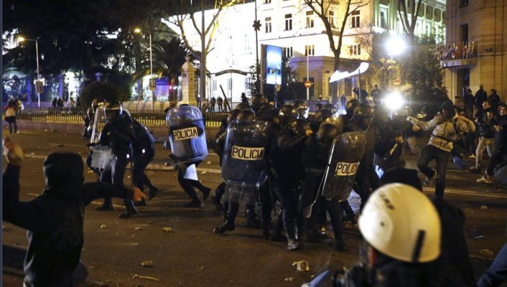 Incidentes tras la Marcha por la Dignidad