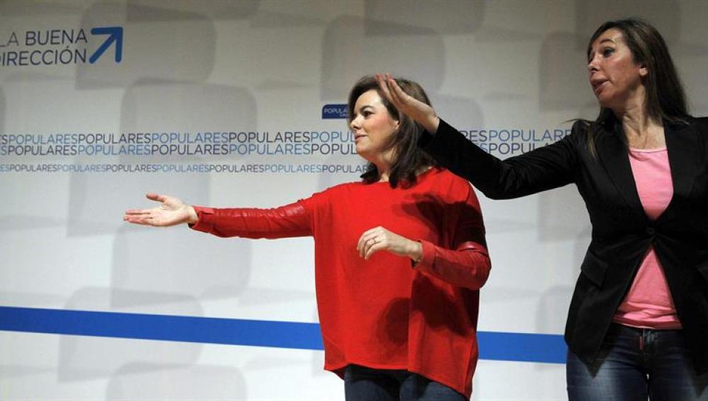 Soraya Sáenz de Santamaría con Alicia Sánchez Camacho