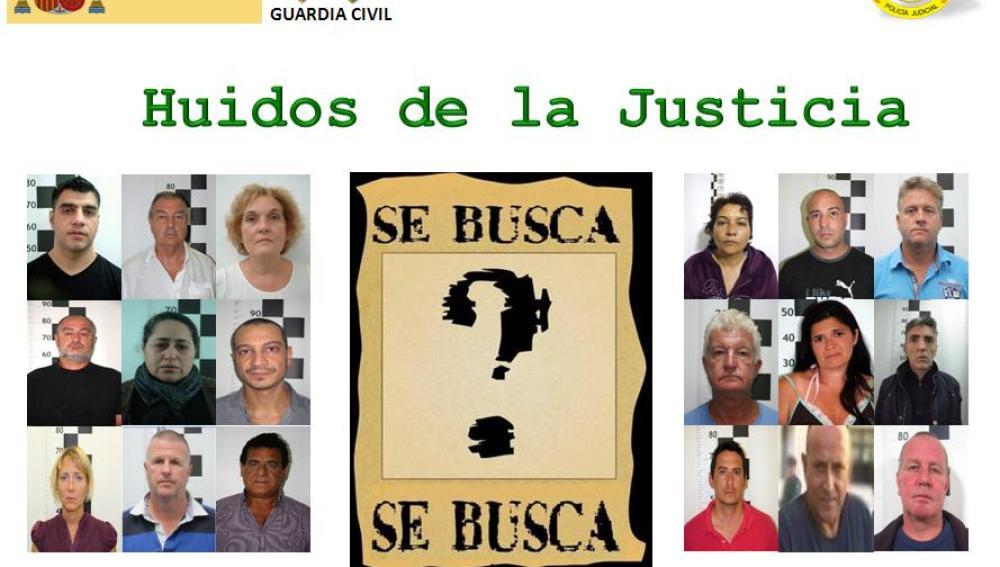 Personas huidas de la Justicia