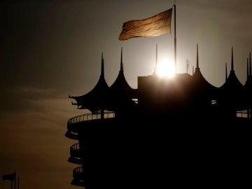 Imagen nocturna del Circuito Internacional de Baréin.