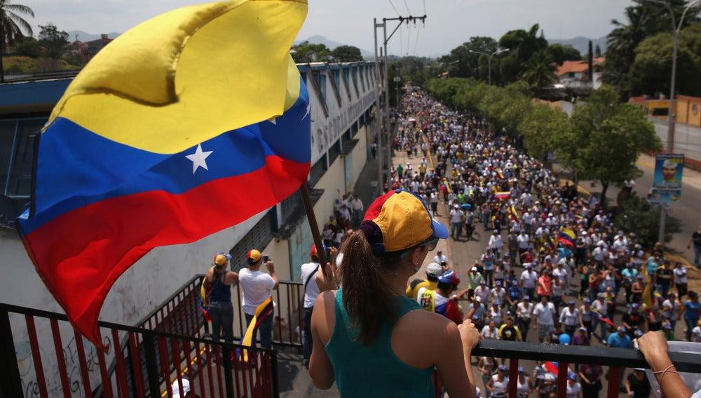 Protestas en las calles de Venezuela