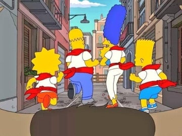 Los Simpson en Sanfermines