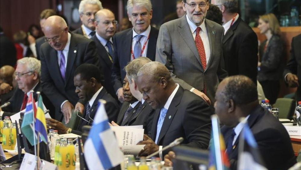 Rajoy a su llegada a la cumbre de Bruselas