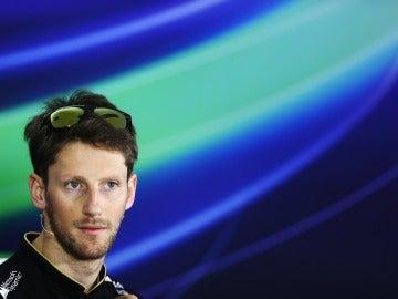 Grosjean en sala de prensa