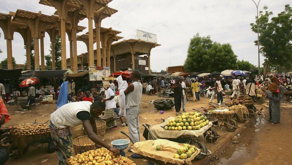 Mercado de alimentos en Nigeria