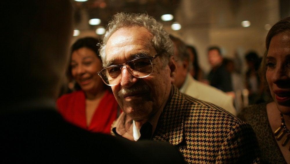 Gabriel García Márquez durante una presentación