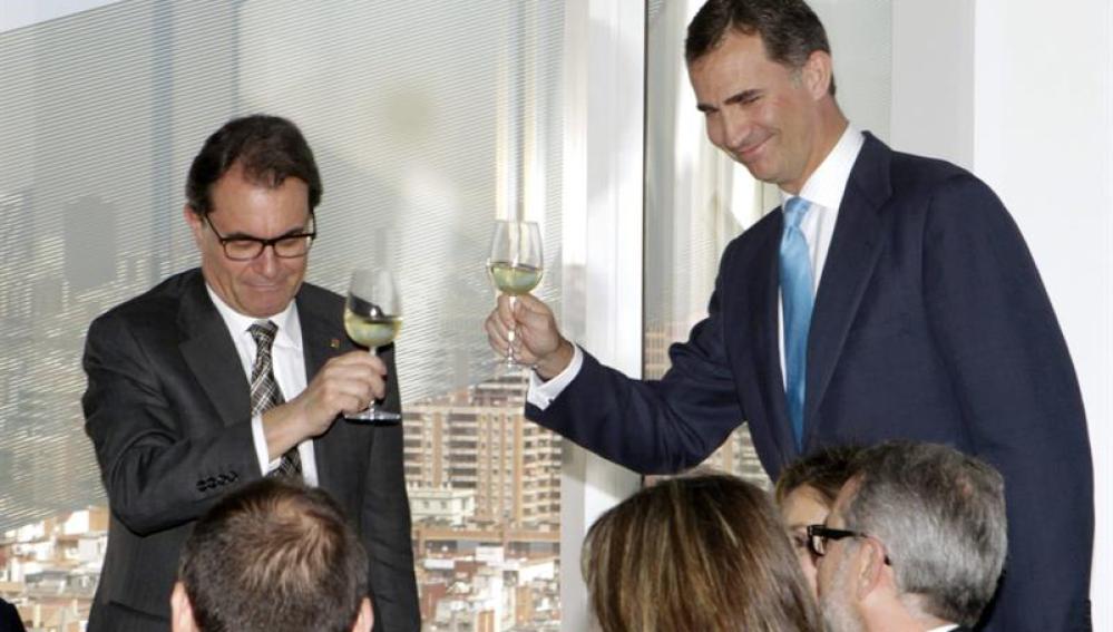 Artur Mas y el Príncipe Felipe