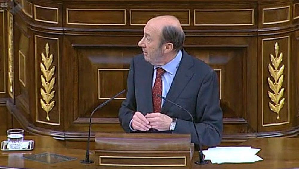 Rubalcaba, en el debate sobre la consulta