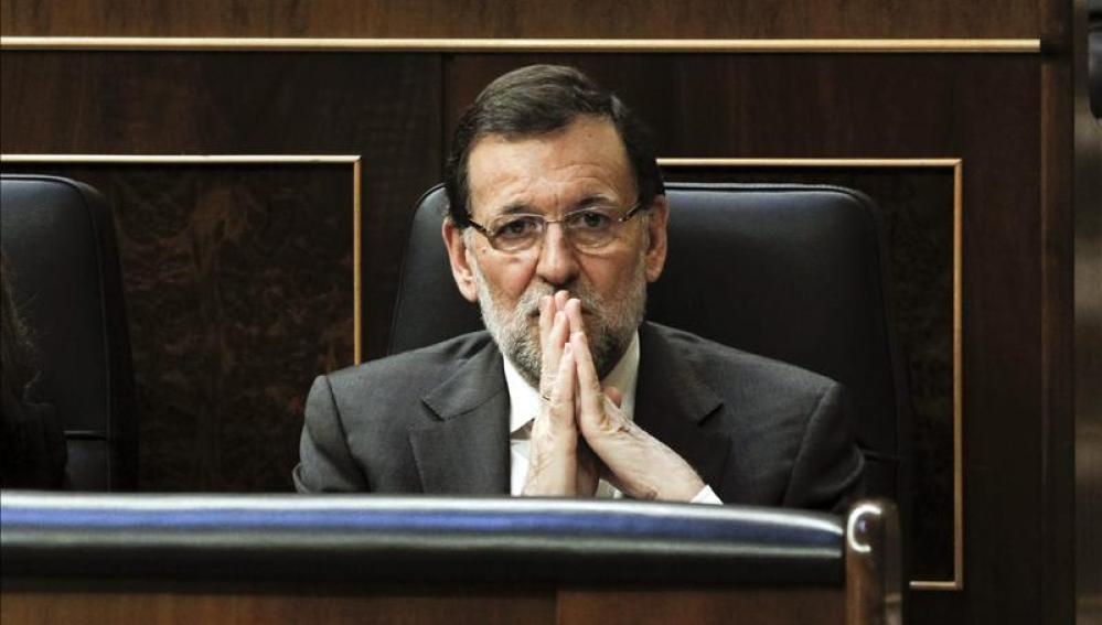 Mariano Rajoy, durante el debate sobre la consulta
