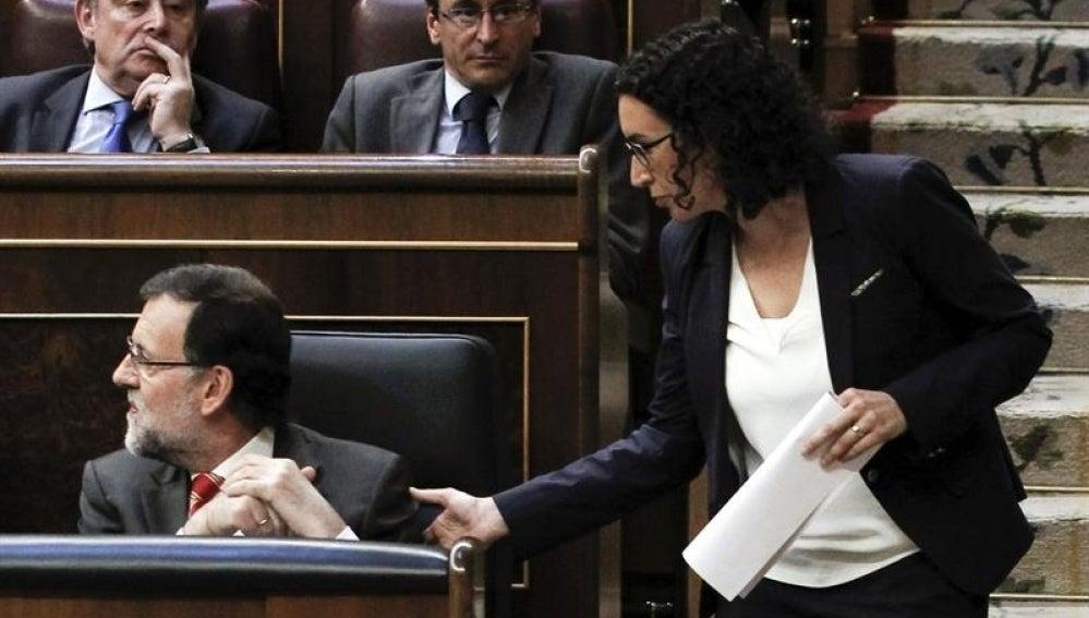 Marta Rovira, en el Congreso junto a Rajoy.