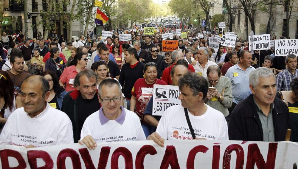 Manifestantes en Madrid