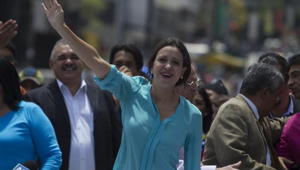 La líder opositora Maria Corina Machado
