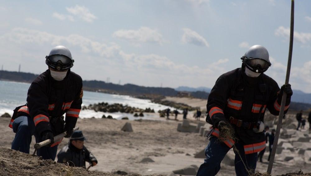 Labores de limpieza en Fukushima