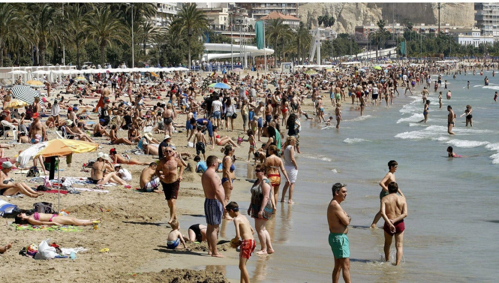 Playa del Postiguet de Alicante