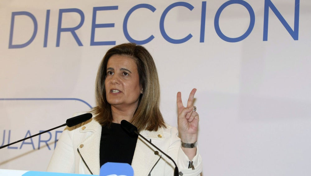 Fátima Báñez, en un acto en Elche