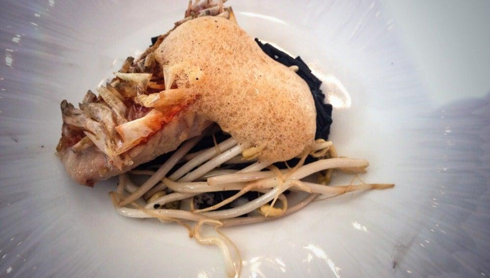 El fantástico salmonete de Lágrimas Negras, según receta de Berasategui..