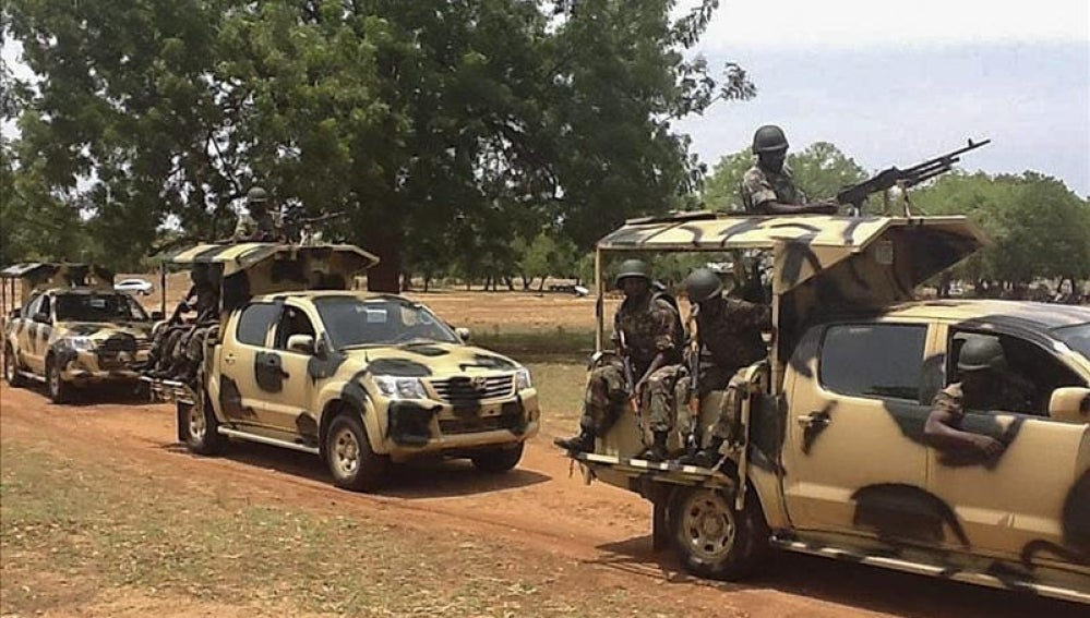 Soldados nigerianos en Yola, Nigeria.