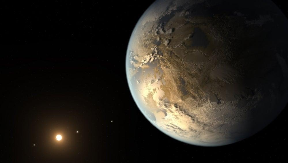 Recreación de Kepler-186f