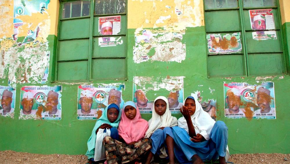 Niñas en una escuela de Nigeria
