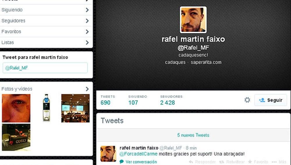 Twitter del aficionado del Barcelona