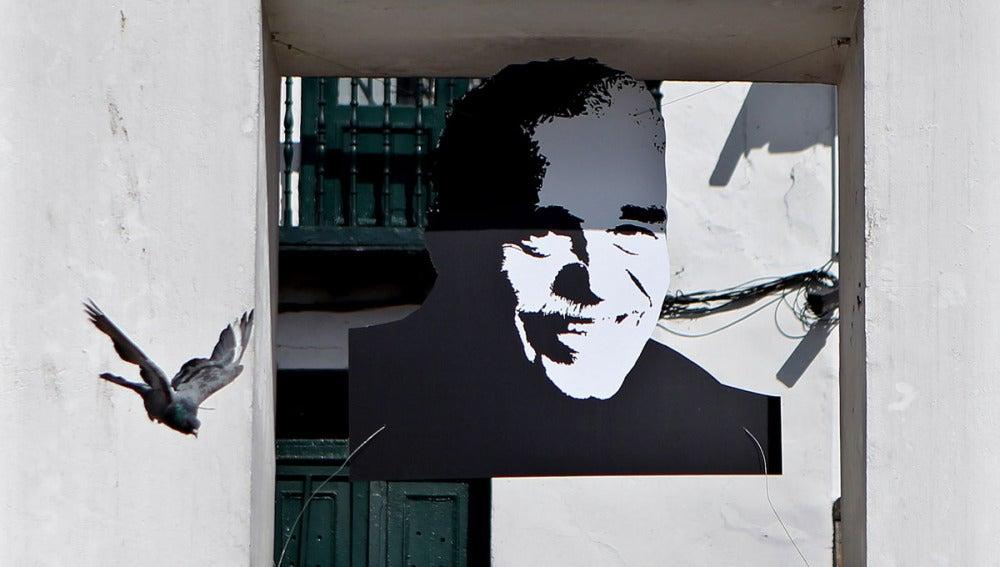 Fotografía de Gabriel García Márquez en Bogotá
