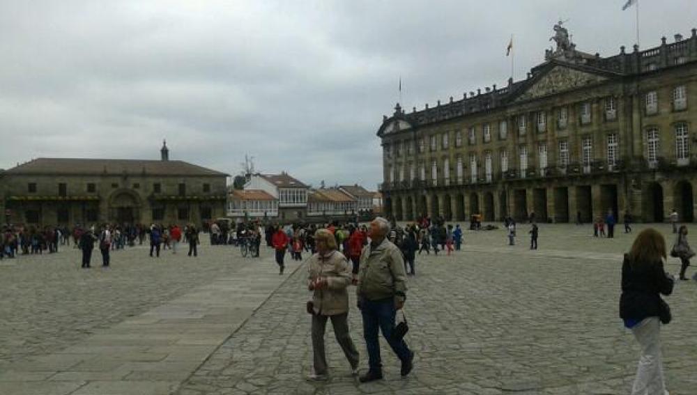 Cielo nublado en Santiago de Compostela