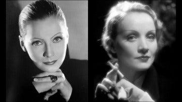 Greta Garbo y Marlene Dietrich