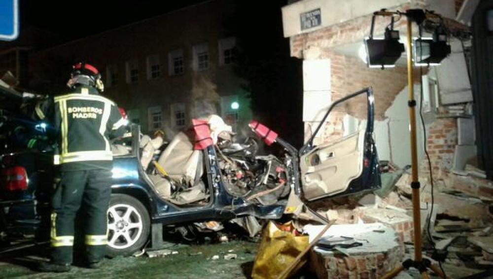 Accidente de coche en Madrid