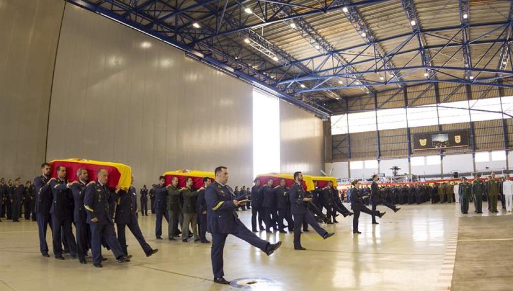 Funeral de los militares del SAR