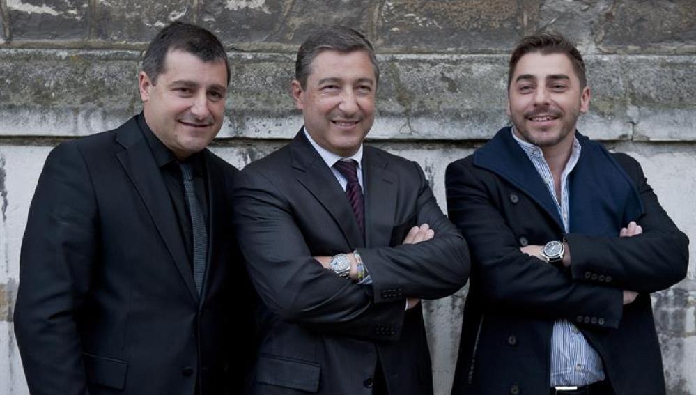 Los chefs españoles Josep Roca, Joan Roca y Jordi Roca
