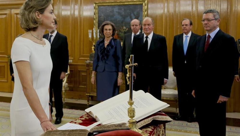 La nueva ministra de Agricultura, Alimentación y Medio Ambiente, Isabel García Tejerina
