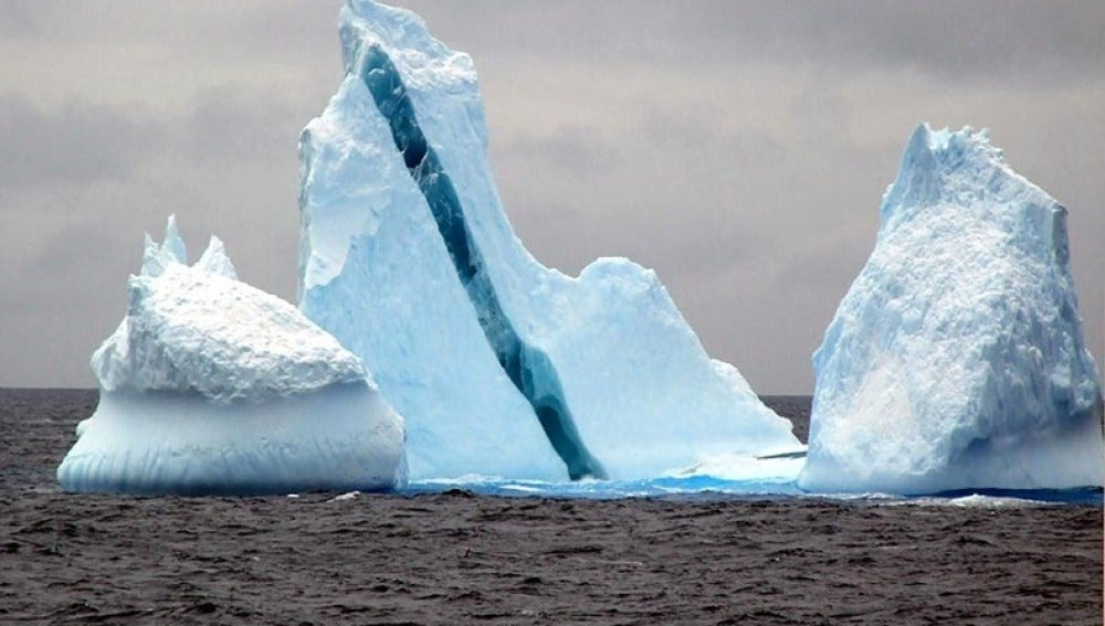 Icebergs en la Antártida