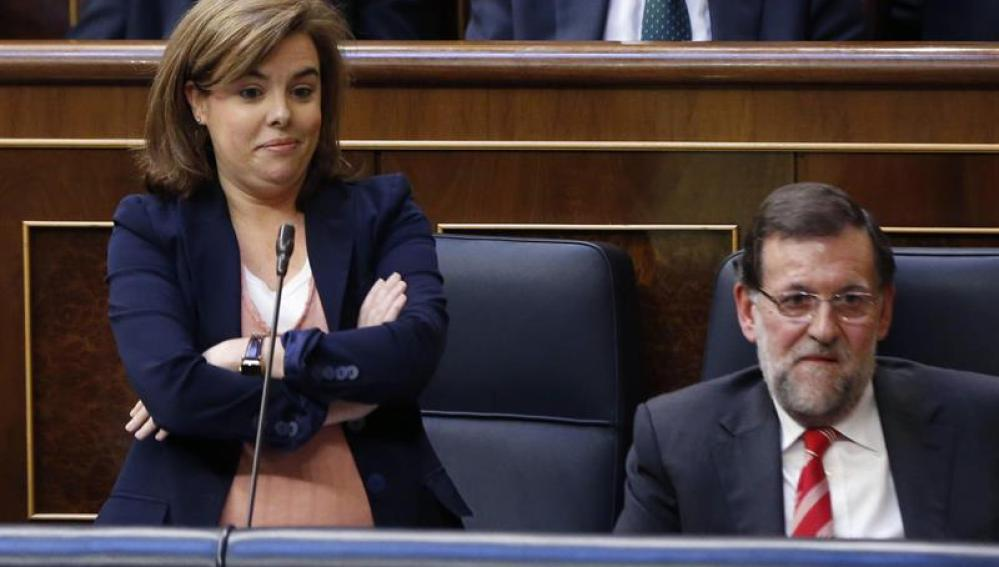 Soraya Sáenz de Santamaría, en el Congreso