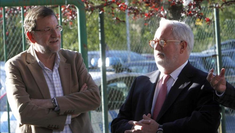 Mariano Rajoy y Arias Cañete en Lalín, Pontevedra