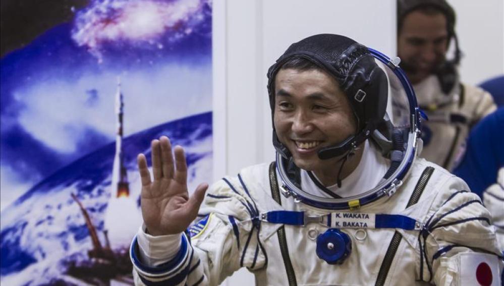 El astronauta, en la Estación Espacial
