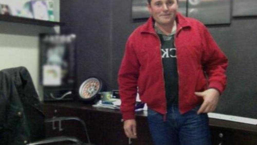 El conductor de la excavadora, Fernando Fernández