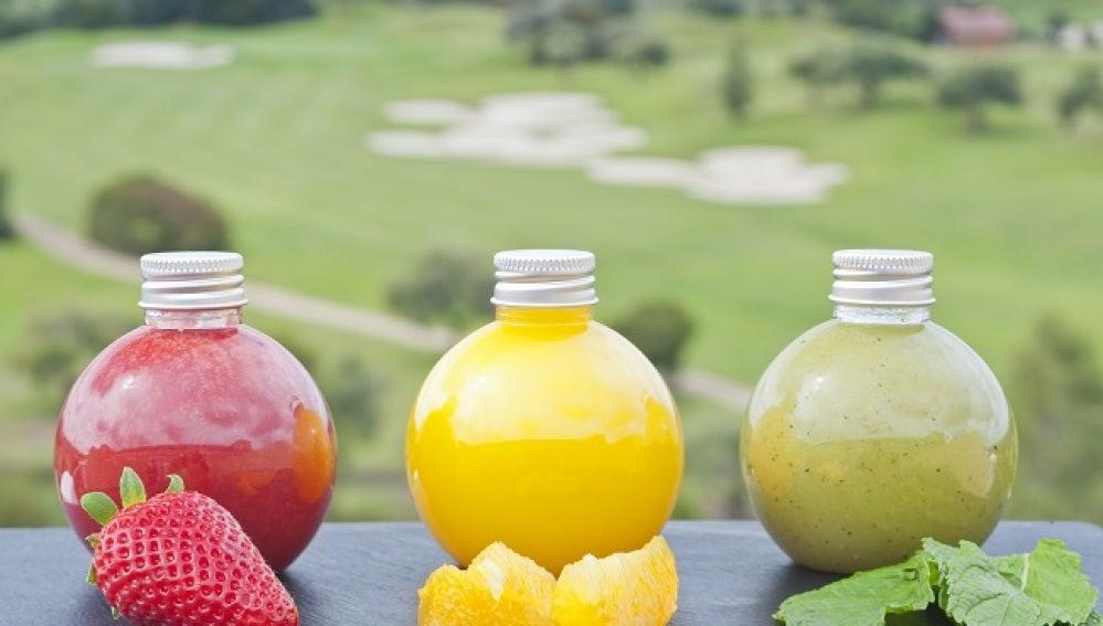 Los coloridos smoothies de Barceló Montecastillo. Para adelgazar, desintoxicar o como antioxidante.