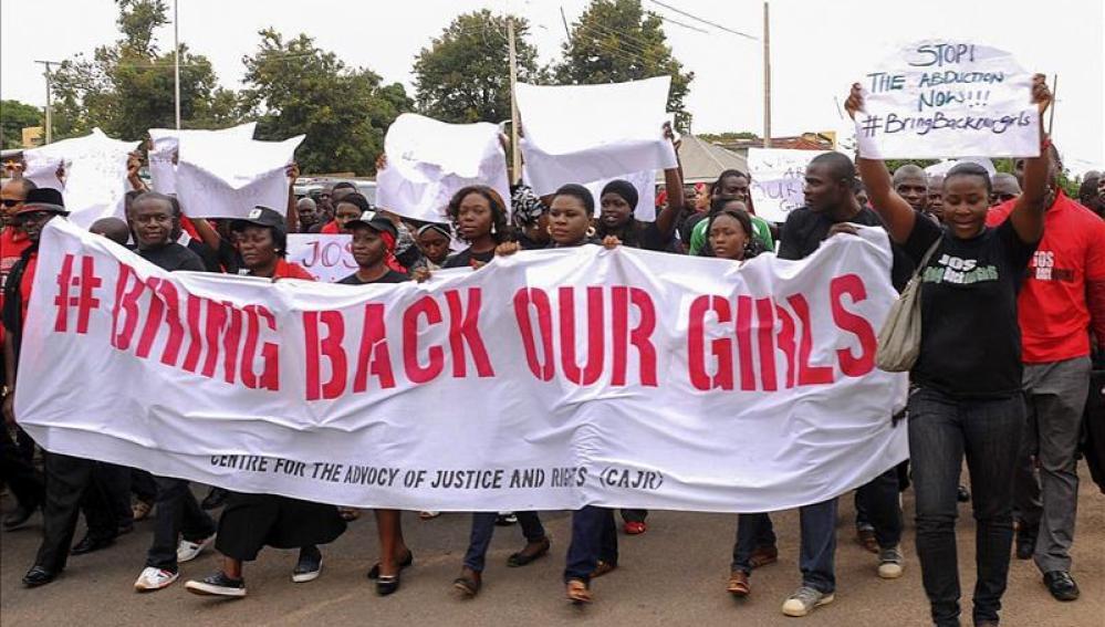 Manifestación por las niñas secuestradas