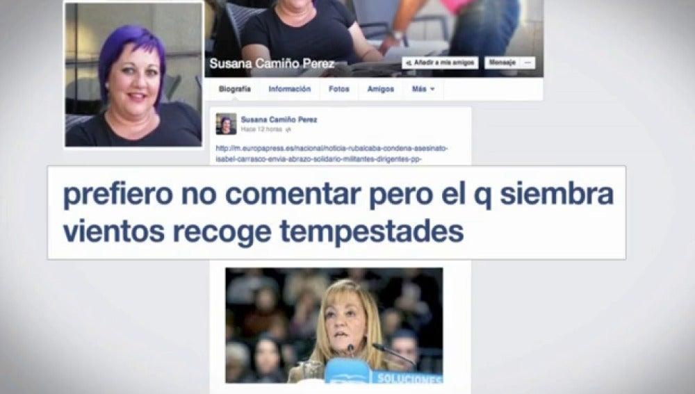 Internet se convierte en una herramienta para condenar el asesinato de Isabel Carrasco.