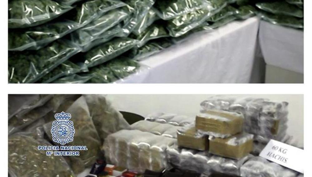 Droga incautada por la Policía Nacional